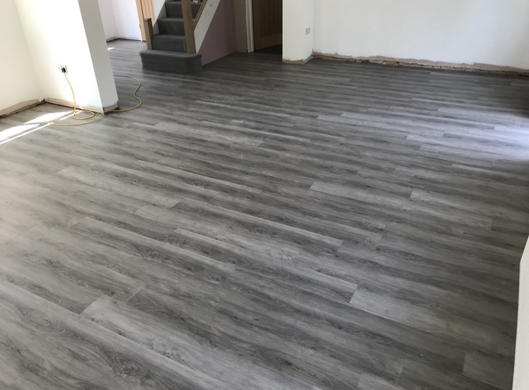 LVT Planks Ground Floor Installation