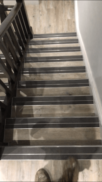 Karndean Installed on Office Stairs and Landings with Nosings